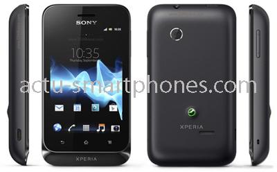 Smartphone de couleur noire