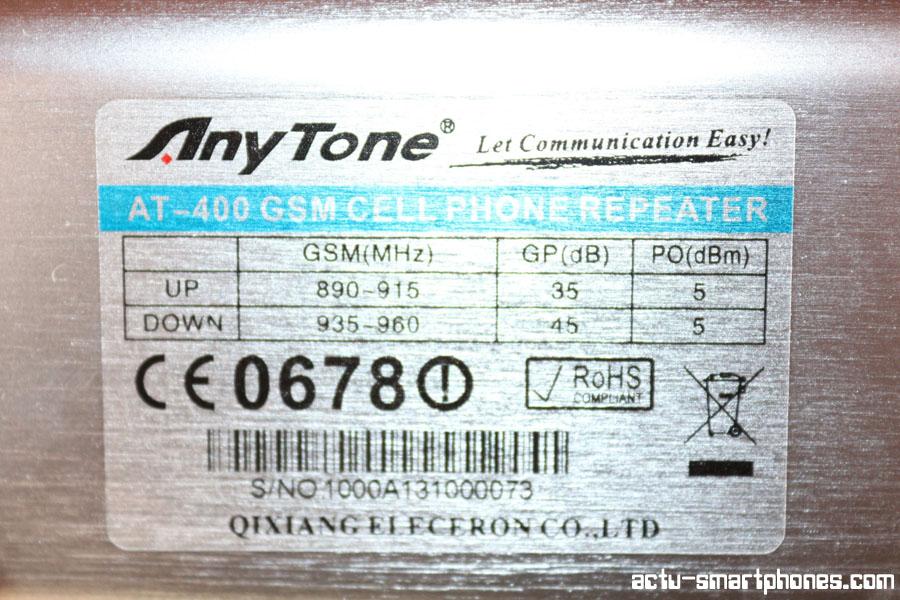 etiquette GSM