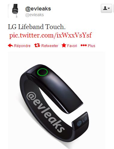 lg life band touche bracelet