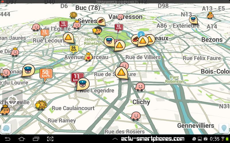 ralentissement à Paris - GPS