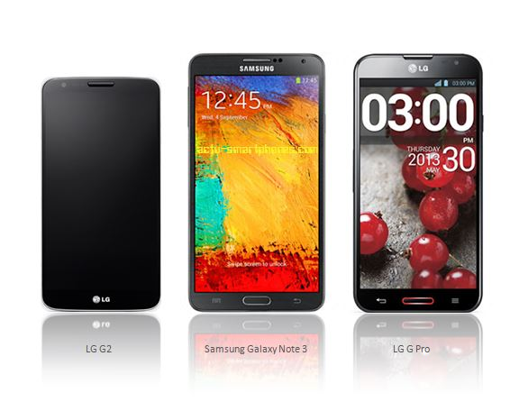 LG 2 - Galaxy Note 3 - LG G Pro