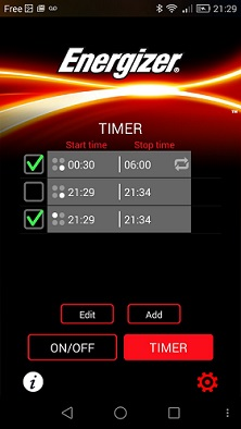 capture appli TIMER