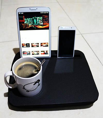 plateau smartphone tablette